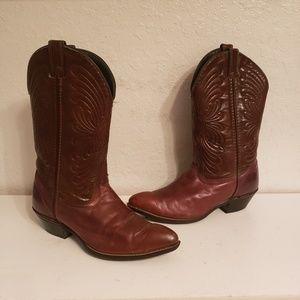 Brown Laredo Cowboy Western Boots Size 8M